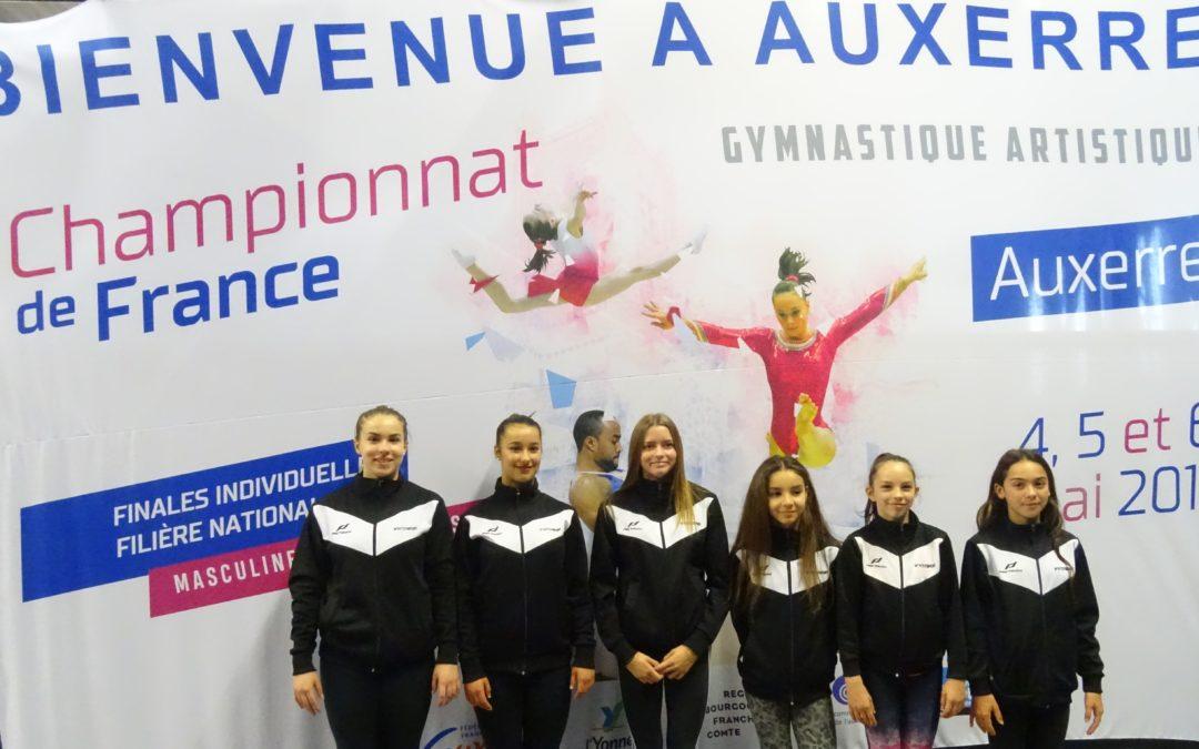 Résultats du Championnat de France en individuelle, à Auxerre