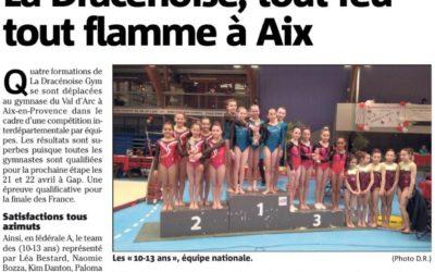 Var Matin 29/03/2018 : La Dracénoise, tout feu tout flamme à Aix