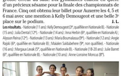 Var Matin 17/04/2018 : Cinq billets aux France
