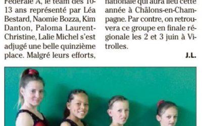 """Var Matin 26/04/2018 : Les """"10-13 ans"""" en finale régionale"""