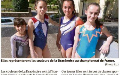 Var Matin 24/04/2019 : Quatre filles de talent qualifiées pour les France