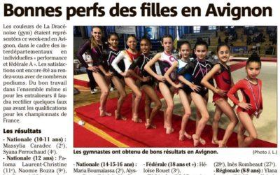 Var Matin 19/02/2020 : Bonnes perfs des filles en Avignon